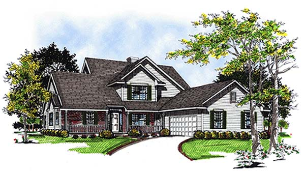 Country House Plan 93106 Elevation