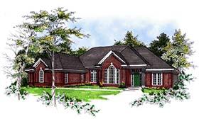 European House Plan 93108 with 3 Beds, 2 Baths, 3 Car Garage Elevation