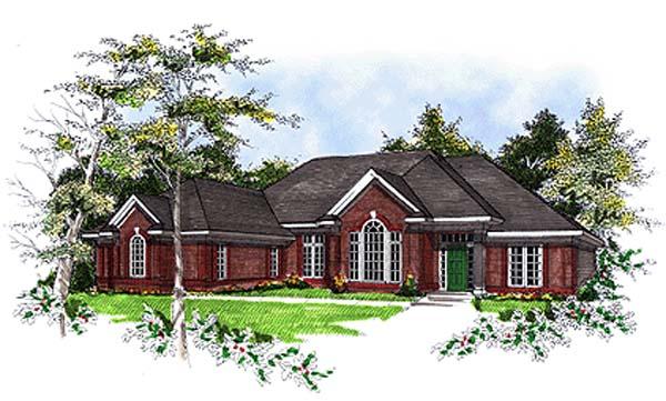 European House Plan 93108 Elevation