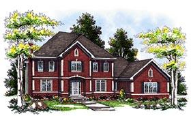 Colonial European House Plan 93111 Elevation