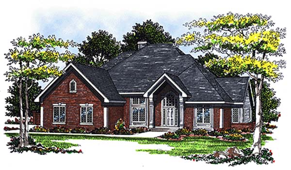 European House Plan 93112 Elevation