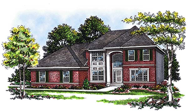 European House Plan 93115 Elevation