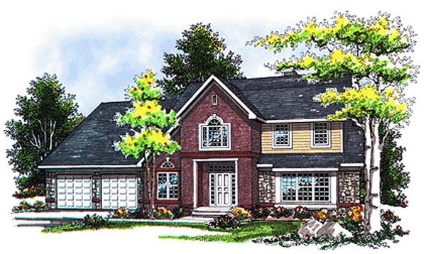 Country European Traditional House Plan 93116 Elevation