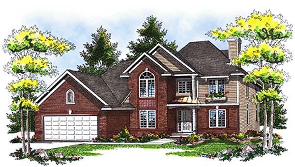 European House Plan 93117 Elevation