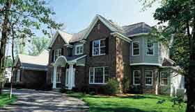 Colonial , European House Plan 93118 with 4 Beds, 4 Baths, 3 Car Garage Elevation