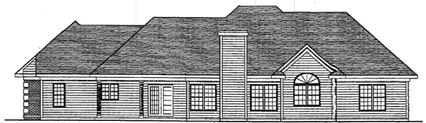 European House Plan 93119 Rear Elevation