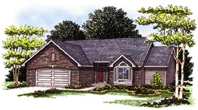 Ranch House Plan 93120 Elevation