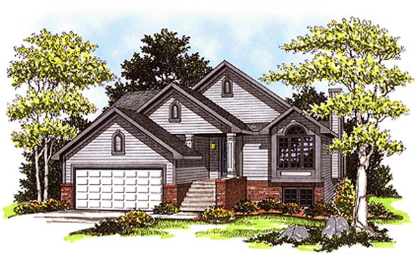 Cabin , Country , Elevation of Plan 93122