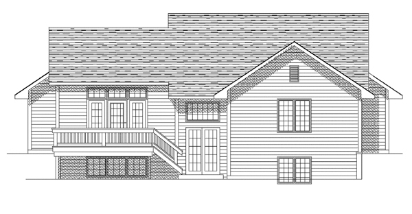 Country European House Plan 93123 Rear Elevation
