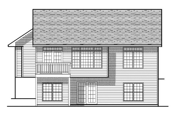 Cabin European House Plan 93124 Rear Elevation