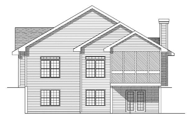 Bungalow House Plan 93127 Rear Elevation