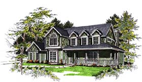 Bungalow , Cape Cod , Country House Plan 93137 with 4 Beds, 3 Baths Elevation