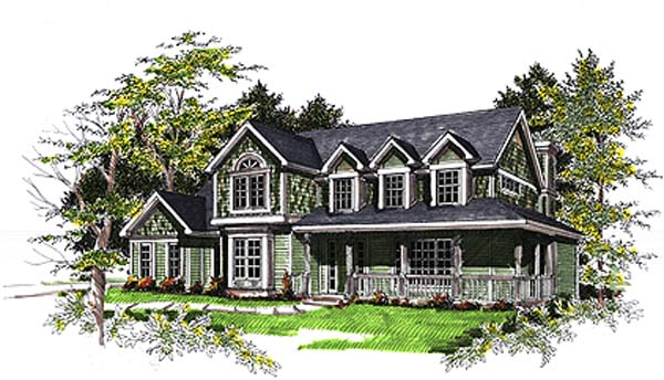 Bungalow, Cape Cod, Country House Plan 93137 with 4 Beds, 3 Baths Elevation