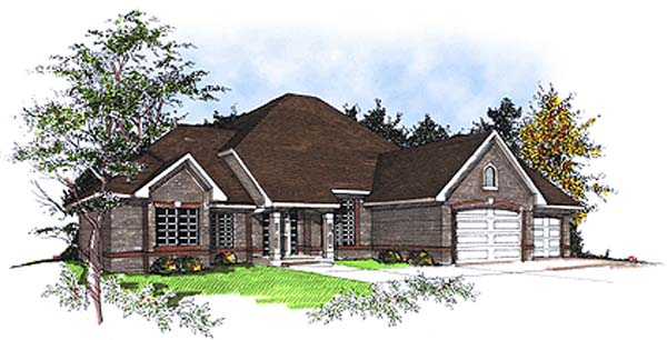 European House Plan 93140 Elevation