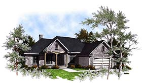House Plan 93141 | European Style Plan with 2238 Sq Ft, 3 Bedrooms, 2 Bathrooms Elevation
