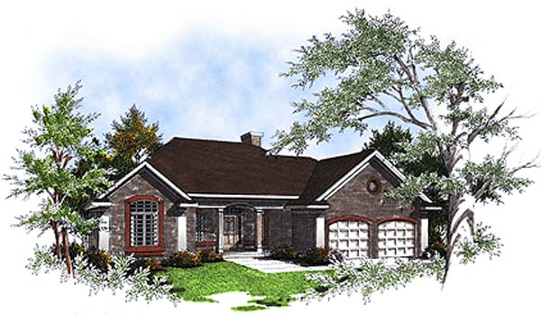 European House Plan 93144 with 3 Beds, 3 Baths Elevation