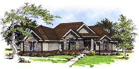 European House Plan 93145 with 3 Beds, 2 Baths Elevation
