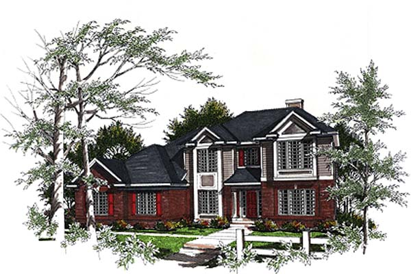 Country European House Plan 93147 Elevation