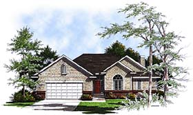Bungalow Country European House Plan 93149 Elevation