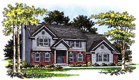 Colonial Country House Plan 93152 Elevation