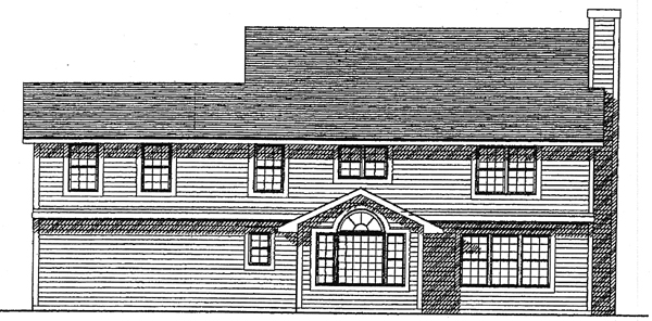 Colonial Country House Plan 93152 Rear Elevation