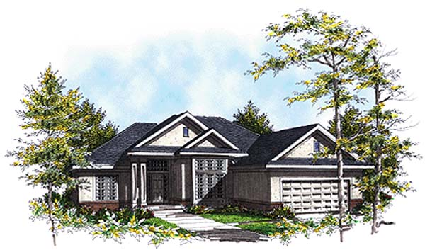 European House Plan 93155 Elevation