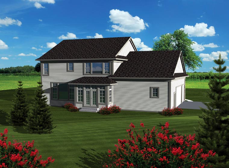 Traditional House Plan 93156 Rear Elevation