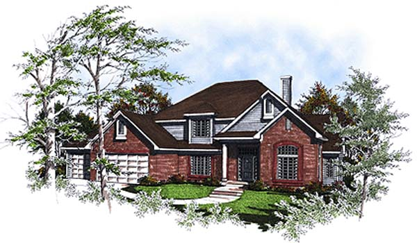 House Plan 93157 | European Style Plan with 2650 Sq Ft, 3 Bedrooms, 3 Bathrooms, 3 Car Garage Elevation