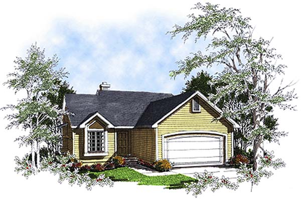 One-Story Ranch Elevation of Plan 93160