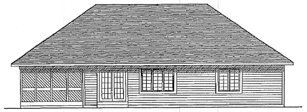 European Ranch House Plan 93161 Rear Elevation