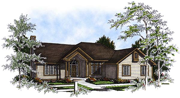 European Ranch House Plan 93162 Elevation