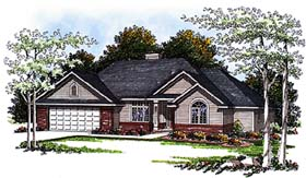 European House Plan 93166 with 3 Beds, 3 Baths, 2 Car Garage Elevation