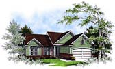 Plan Number 93169 - 1456 Square Feet