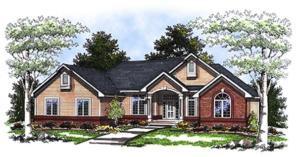 Traditional House Plan 93170 Elevation