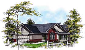 House Plan 93171 | Country Style Plan with 1642 Sq Ft, 3 Bedrooms, 3 Bathrooms, 2 Car Garage Elevation
