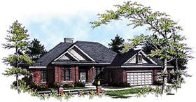 European House Plan 93172 with 3 Beds, 2 Baths, 3 Car Garage Elevation