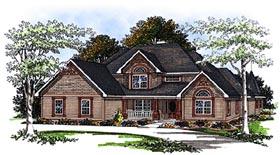 Bungalow European House Plan 93178 Elevation