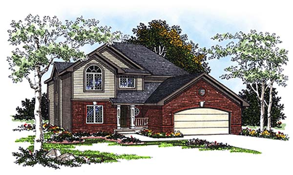 European House Plan 93181 Elevation