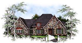 European Tudor Victorian House Plan 93182 Elevation