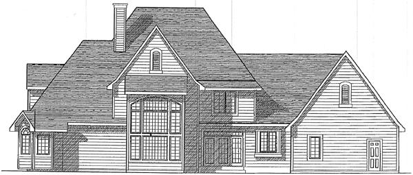 European Tudor Victorian House Plan 93182 Rear Elevation