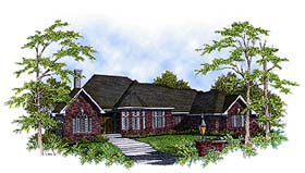 European House Plan 93183 Elevation