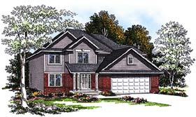 Country House Plan 93185 with 4 Beds, 3 Baths, 2 Car Garage Elevation