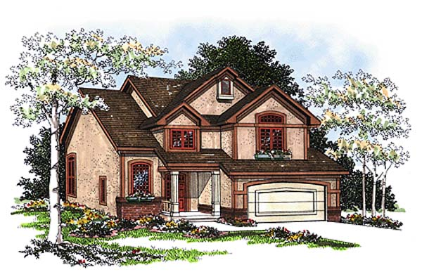 Country House Plan 93188 with 4 Beds, 3 Baths, 2 Car Garage Elevation