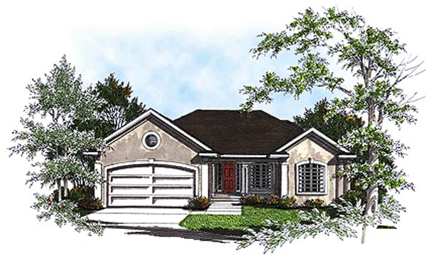 Traditional House Plan 93189 Elevation