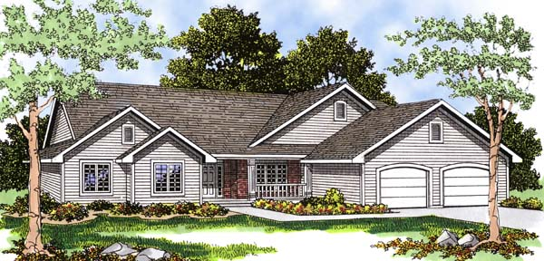 Ranch House Plan 93193 Elevation