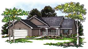 Ranch House Plan 93195 Elevation