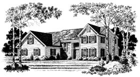Country House Plan 93310 with 3 Beds, 3 Baths, 2 Car Garage Elevation