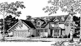 Country House Plan 93314 with 4 Beds, 3 Baths, 2 Car Garage Front Elevation