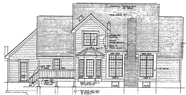 Country House Plan 93349 with 3 Beds, 3 Baths, 2 Car Garage Rear Elevation