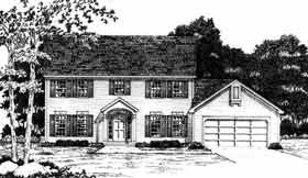Colonial, Southern House Plan 93354 with 4 Beds, 3 Baths, 2 Car Garage Elevation